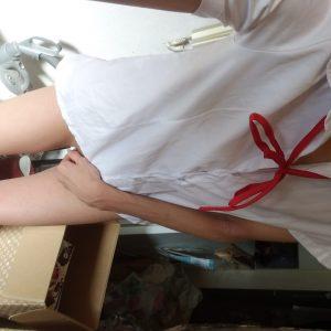 【女装もみじ】 下半身だけ裸シャツ 【変態写真】